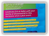 Eid Family Night @ DreamWorld 11 October