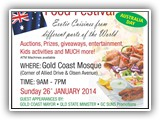 Gold Coast Mosque Int. Food Festival 2014 26 JANUARY