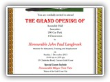 Gold Coast School Hall Grand Opening 1 December