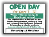 ICB OPEN DAY 18 OCTOBER