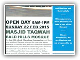 Masjid Taqwa OPEN DAY 22 FEBRUARY