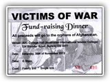 Victims of War Fund Raiser Dinner 30 November