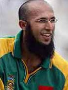 The Mamoo Hashim Amla in the green and gold